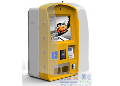 Outdoor Wall Mounted Kiosk with Barcode / Multimedia Standing Kiosk Machine