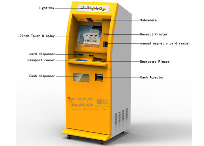 Self Service Photo Printing Kiosk / Kiosk With Photo Printing With Cash Acceptor​
