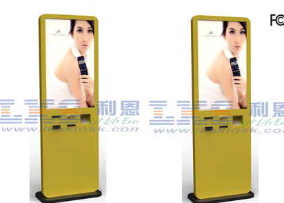 Free Standing 32 Inch LCD Interactive Multimedia Kiosk For Shopping Mall