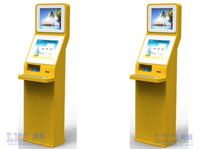 Internet Terminal Free Standing Kiosk For Shop With Pinpad Keyboard OEM Service
