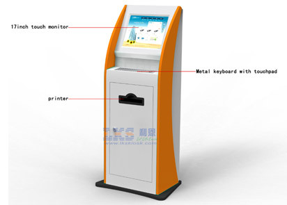 Professional Self Payment Photo Booth Kiosk Terminal With Windows 7 or Linux