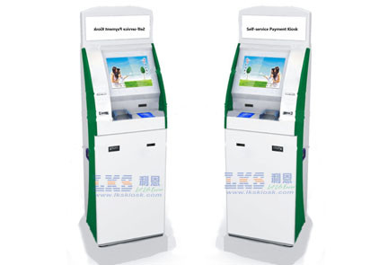 Customized Photo Printing Kiosks Stand PC Touch Screen With Card Reader
