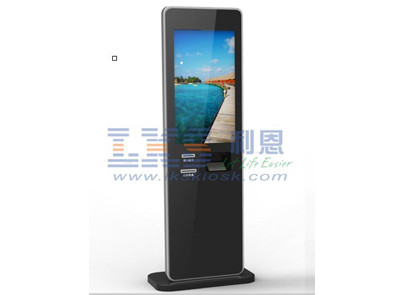 42 Inch IR Touch Screen Ticket Vending Machine Back LED Light Advertising Panel
