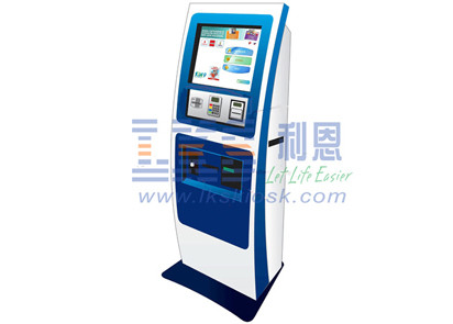 Check Card Bill Payment Kiosk 16 Metal Keys ATM Design PCI Encypted Pinpad