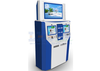 Interactive Inforamtion Banking Multifunction Kiosk With Card Dispenser