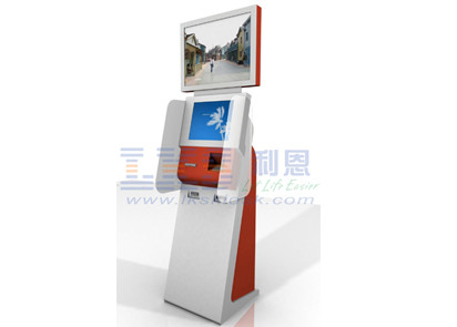 Bill Paying Dual Screen Kiosk Equipped With Protective Glass , Audio Assistance
